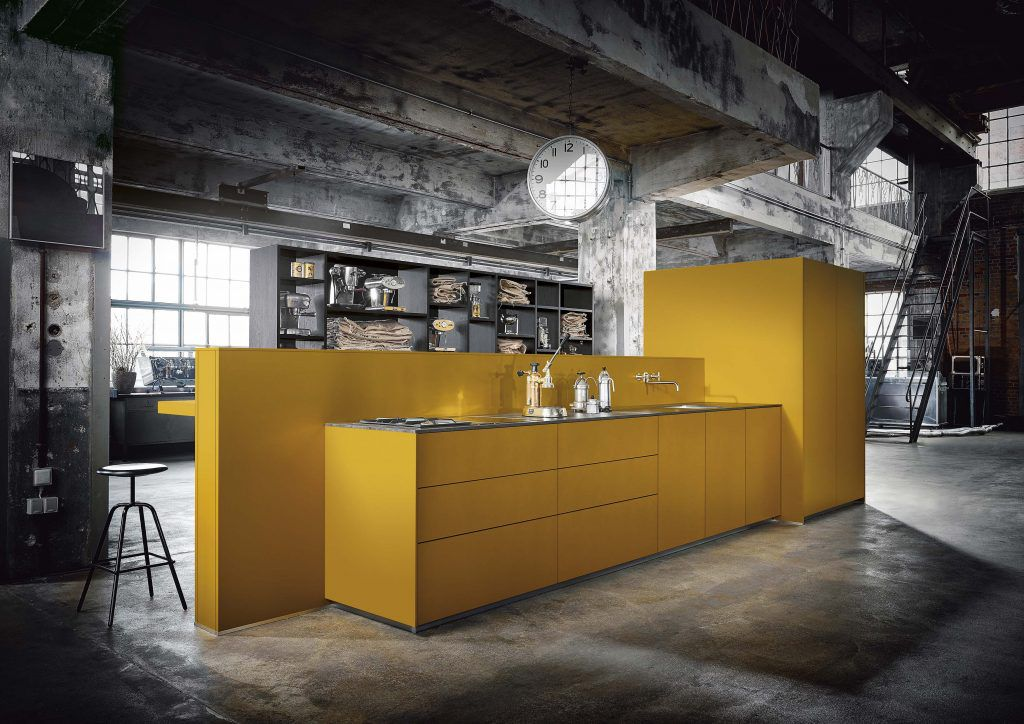 next125 safron yellow kitchens london