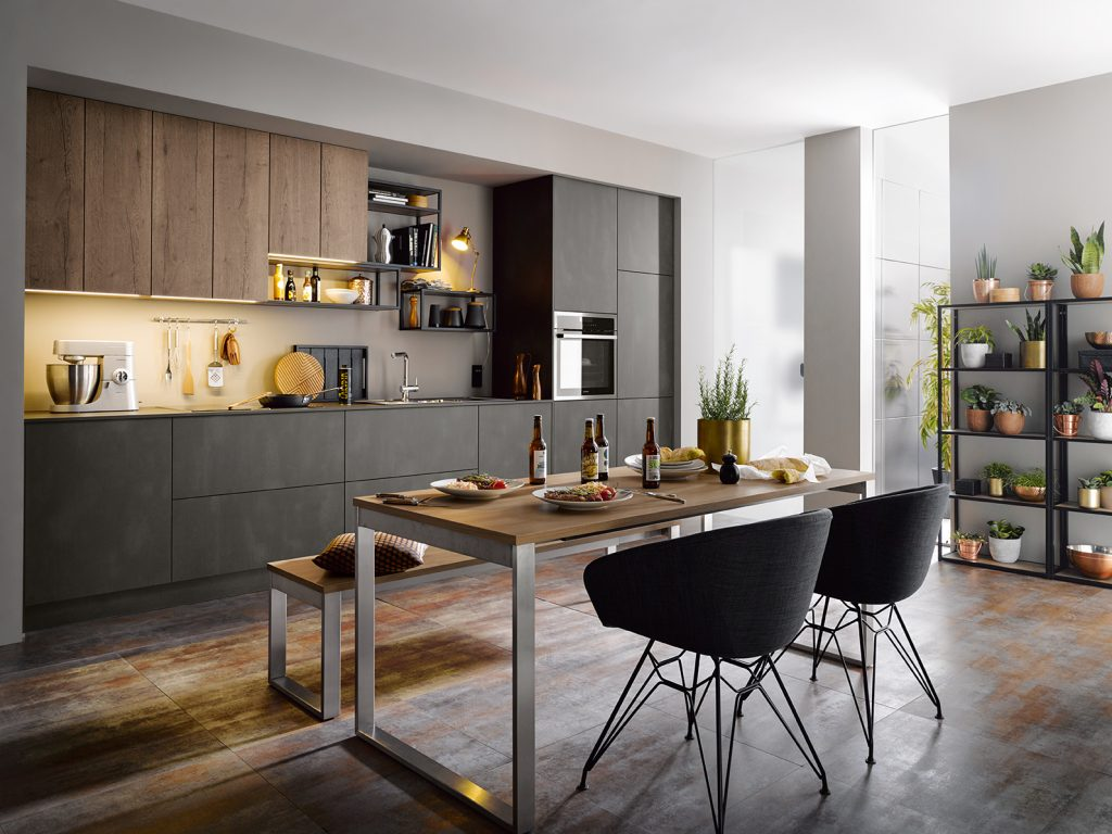 Targa Dark Steel Schuller Kitchen