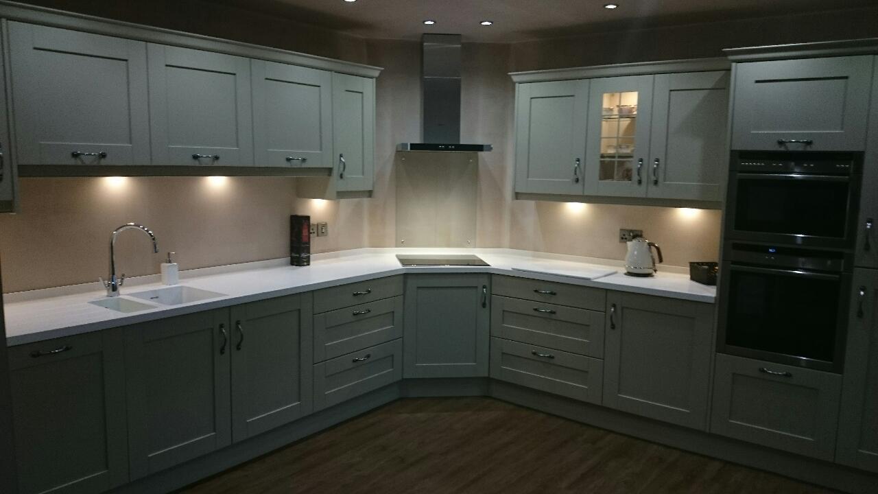 elite kitchen design in worsley white corian worktops in