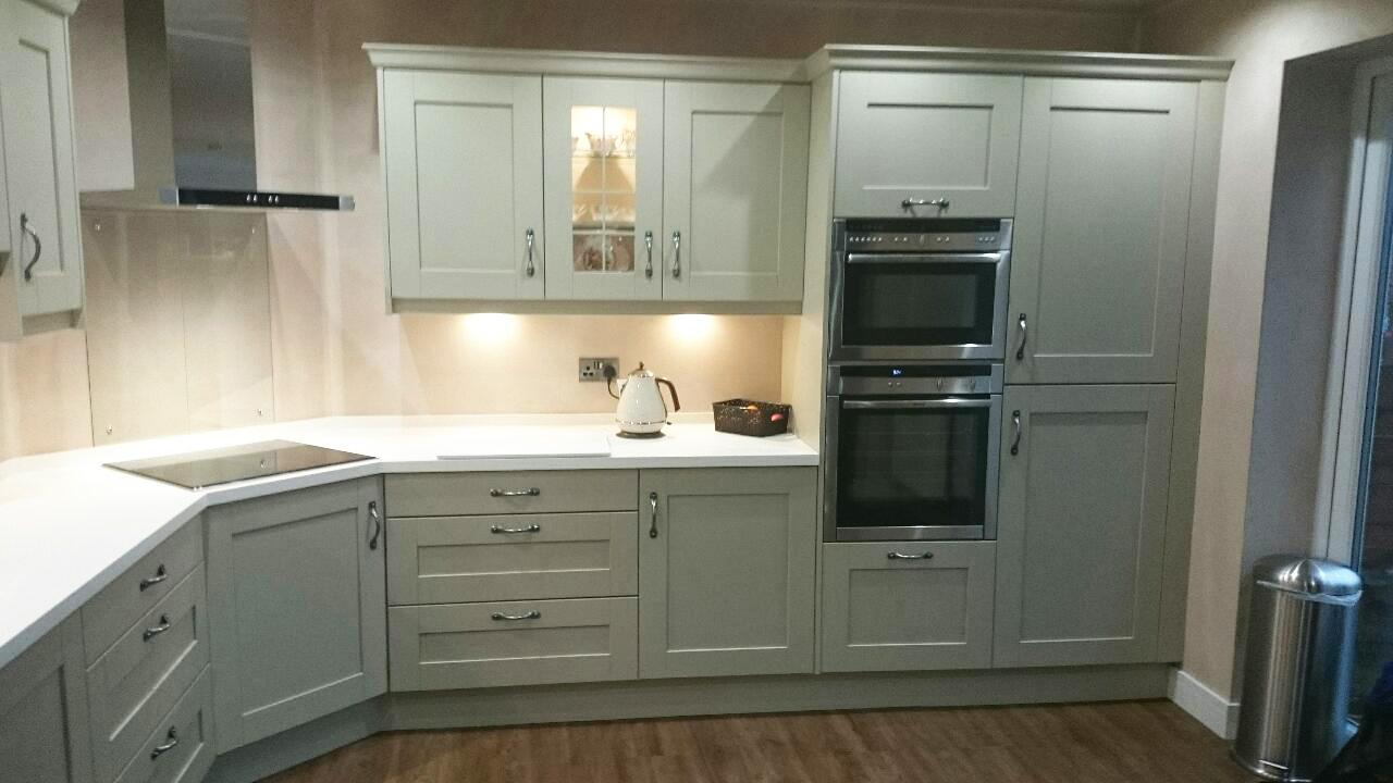Elite Kitchen Design In Worsley White Corian Worktops In Worsley