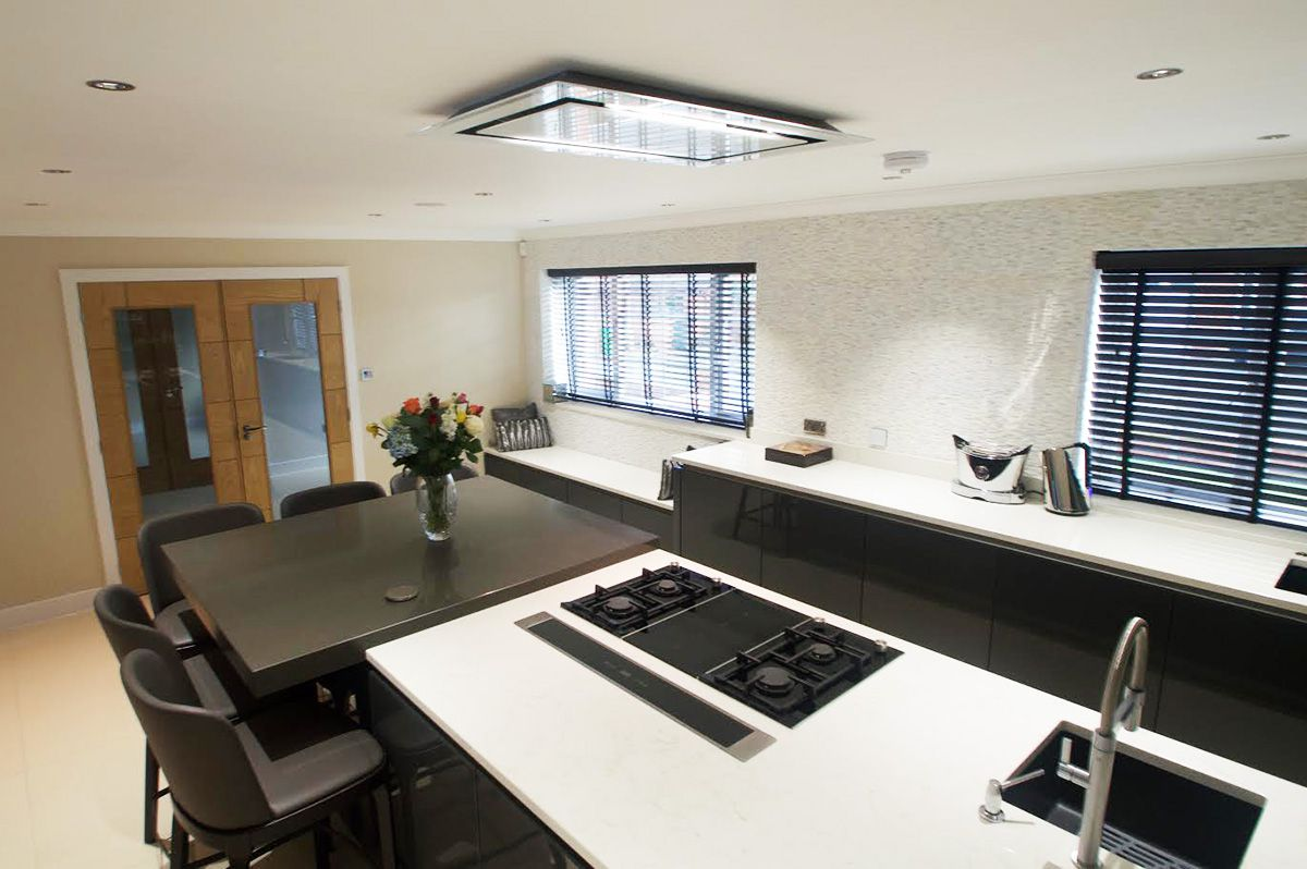 Quartz worktops in Amani White and Amani Grey Oldham, Bamford, Rochdale, Manchester