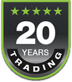 20 years trading thanks to our customer recommendations